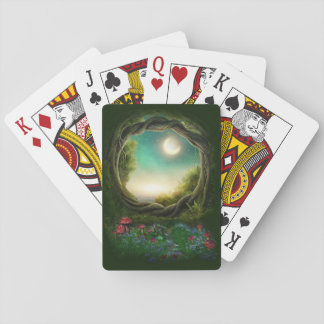 Enchanted Moon Tree Playing Cards