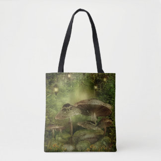 Enchanted Mushrooms All-Over-Print Tote Bag