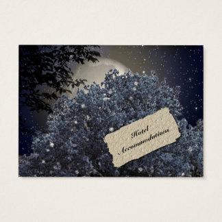 Enchanted Night Hotel Accommodation Insert Cards