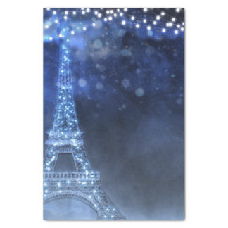 Enchanted Night in Paris String Lights Custom Tissue Paper