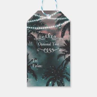 Enchanted Night Sky Evening Beach Lights Wedding Pack Of Gift Tags