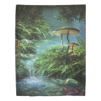 Enchanted Pond (1 side) Twin Duvet Cover