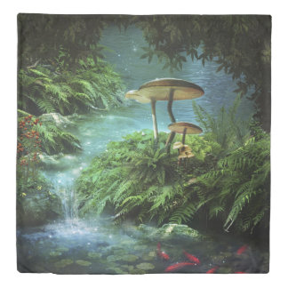 Enchanted Pond (2 sides) Queen Duvet Cover