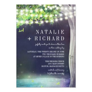 Enchanted Pond Evening Wedding Card