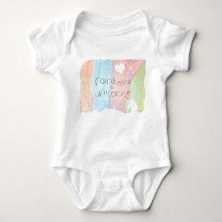 Enchanted rainbow and unicorn fairytale baby bodysuit