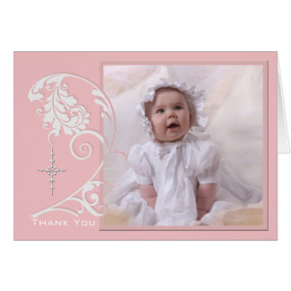 Enchanted Religious Photo Thank You  Card