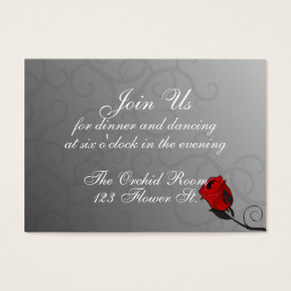 Enchanted Roses Reception Cards