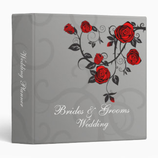 Enchanted Roses Wedding Planner 3 Ring Binder