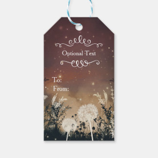 Enchanted Rustic Night Sky Stars & Foliage Wedding Pack Of Gift Tags