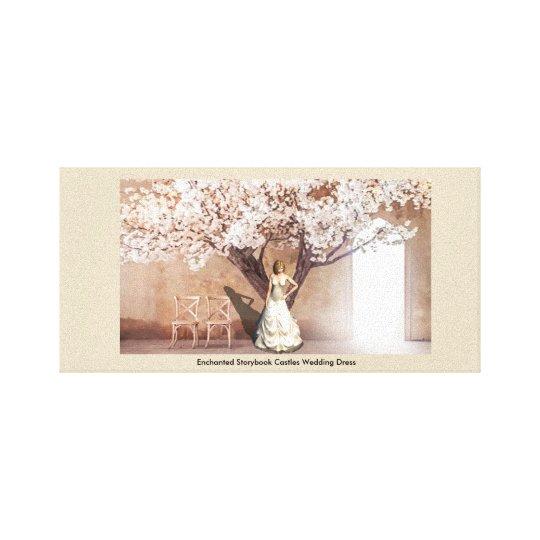 Enchanted Storybook Castles Wedding Dress(Edition) Canvas Print