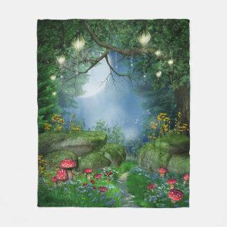 Enchanted Summer Night Fleece Blanket