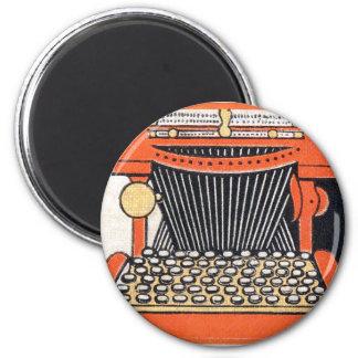 Enchanted Typewriter 2 Inch Round Magnet