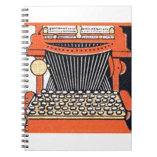 Enchanted Typewriter Spiral Note Book