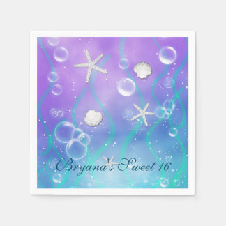 Enchanted Under The Sea Birthday Party Napkins Disposable Napkin
