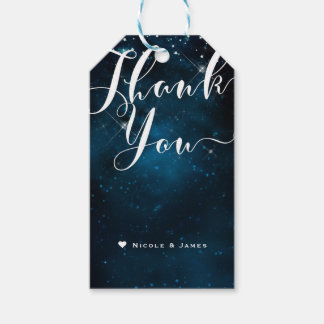 Enchanted Under the Stars Starry Sky THANK YOU Pack Of Gift Tags