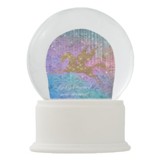 Enchanted Unicorn Sparkle Lights Snow Globe