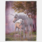 Enchanted Unicorns Large Fleece Blanket