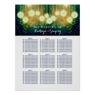 Enchanted Wedding Seating Chart With Lanterns