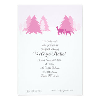 ENCHANTED WOODLAND quinceanera invitation