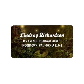 enchanted woodland wedding address labels