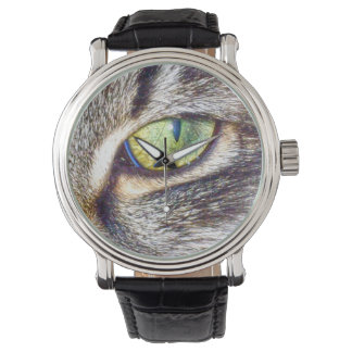 Enchanting_Cats_Eye_Mens_Leather_Vintage_Watch Wrist Watches
