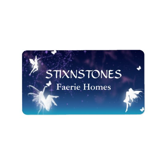 Enchanting Fairies Custom Label