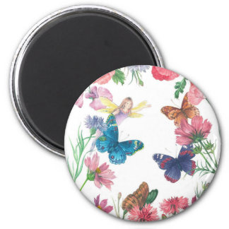 enchanting flower fairy magnet