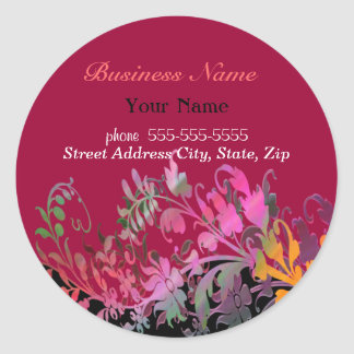 Enchanting Flowers Promotional Stickers
