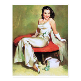 Enchanting Pin Up Postcard