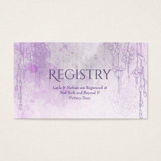 Enchanting Purple Wedding Registry Card
