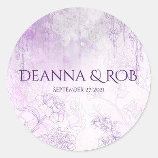 Enchanting Purple, Wedding Stickers