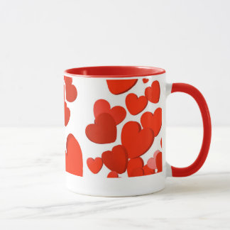 Enchanting Red Colored Heart Mug