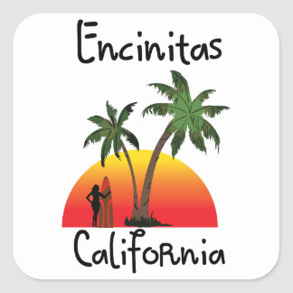 Encinitas California. Square Sticker