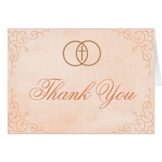 Encircled Cross Thank You Card