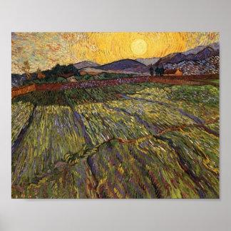 Enclosed Field Rising Sun (F737) Van Gogh Fine Art Poster