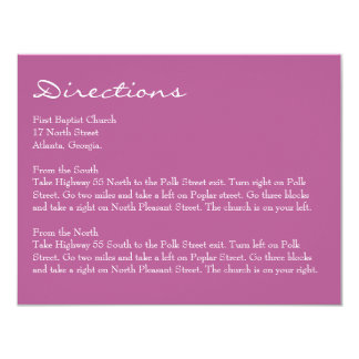 "Enclosure Card // The Plum Bouquet Collection 4.25"" X 5.5"" Invitation Card"