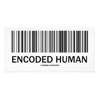 Encoded Human Barcode Attitude Photo Card Template