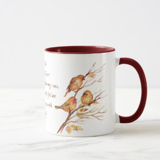 Encoucouraging Scripture Matthew 6:26, Birds Mug