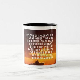 Encounter God in the Present Two-Tone Coffee Mug