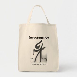 'Encourage Art' Organic Tote featuring 'Signatures