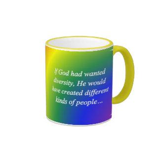 Encourage Diversity Reverse (sq) Coffee Mug