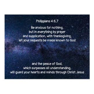 Encourage Someone Bible Scripture Phillippians 4:6 Postcard