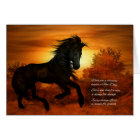 Encouragement and Support Horse at Sunrise Card