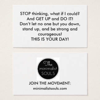 Encouragement CARD! Business Card