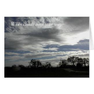 Encouragement Card: Cloudy Sky over oak landscape Card