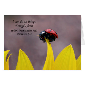Encouragement Card with Ladybug and Scripture
