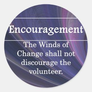 Encouragement for Volunteers Round Sticker