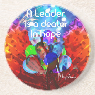 Encouragement  message for leadership. coaster