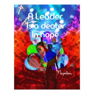 Encouragement  message for leadership. letterhead
