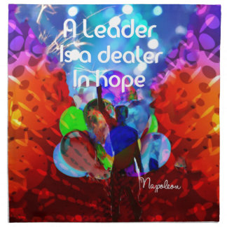 Encouragement  message for leadership. napkin